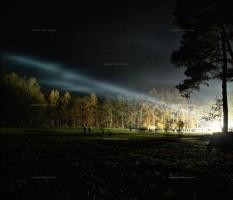 Gorleben, Castor, Demonstration, Nacht, Licht, Feld