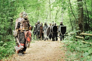 Live Action Role Playing, LARP, Monster, Kampf, Axt